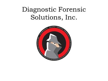 Diagnostic Forensic Solutions, Inc. The Scene Local police were called to the scene of a car accident late last night when a newly- purchased car collided.