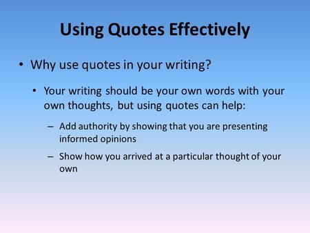quote and response essay How to quote a source introducing a quotation formatting a quotation punctuating with quotation marks introducing a quotation one of your jobs as a writer is to.