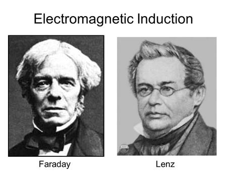Electromagnetic Induction FaradayLenz. Why does Electromagnetic Induction Occur? Horizontal Magnetic Field Move wire down - - - I - + I.