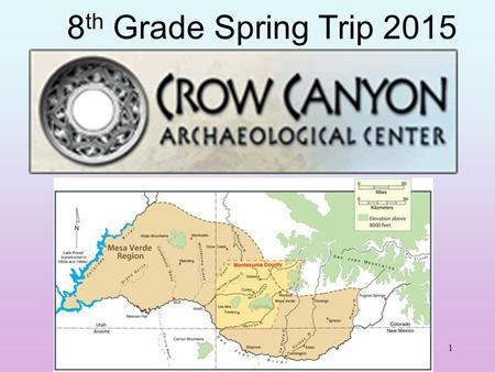 1 8 th Grade Spring Trip 2015. 2 General Information Dates: Sunday, May 8 to Friday May 13 Cost: approximately $925.00, deposit $150 due Dec. 18 Transportation: