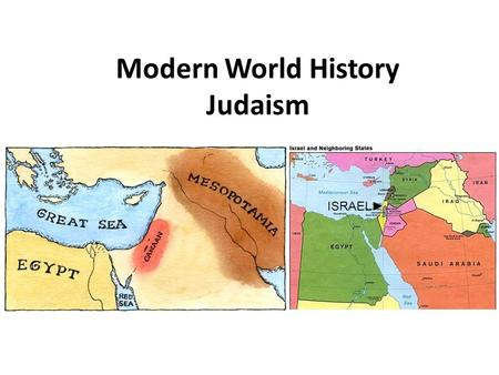 Modern World History Judaism ISRAEL►. Origins of the Hebrews Jews – modern name for the people descended from the Hebrews There religion is called Judaism.