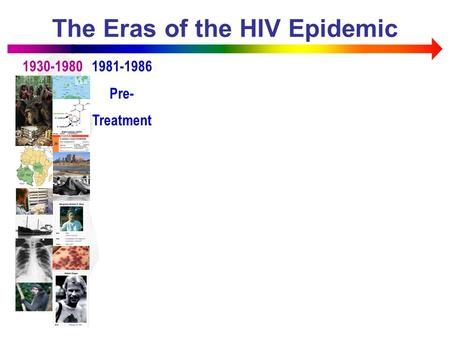The Eras of the HIV Epidemic 1930-19801981-1986 Pre- Treatment.
