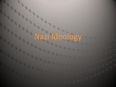 "Nazi Ideology. The Nazis, supported by scientists and physicians, classified and ranked peoples and individuals according to a hierarchy of ""superior"""