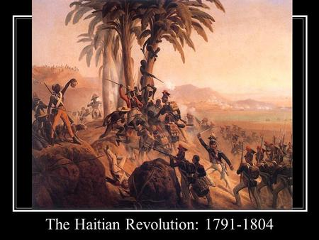 The Haitian Revolution: 1791-1804. Modern Map Haiti Under Colonial Rule Spain (1492 -1697)France (1697-1804)