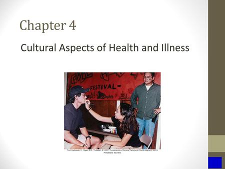 Chapter 4 Cultural Aspects of Health and Illness.