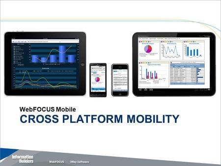Copyright 2010, Information Builders. Slide 1 CROSS PLATFORM MOBILITY WebFOCUS Mobile.