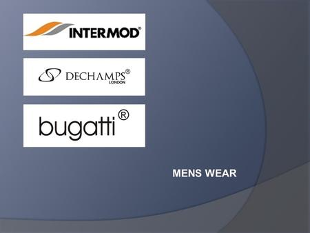 MENS WEAR. Company Profile  Intermod is establised in 1981.  Manufacturer of mens suit  Highest quality  High technology equipment  Highly skilled.