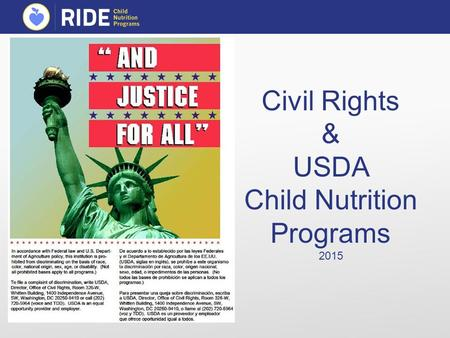 Civil Rights & USDA Child Nutrition Programs 2015.