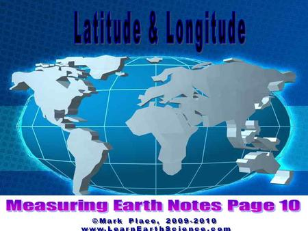 Let's Look at This Question: How is latitude measured?