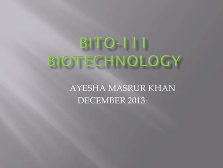 AYESHA MASRUR KHAN DECEMBER 2013. More on Restriction Enzymes 2 Restriction enzymes are Nucleases which can cleave the sugar-phosphate backbone of DNA,