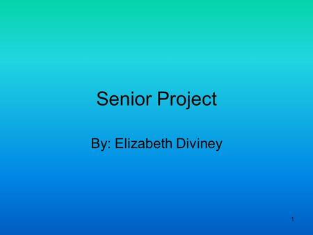 1 Senior Project By: Elizabeth Diviney. 2 Introduction Major: Humanities-Prelaw –Graduate Degree: Juris Doctor Colleges: –Michigan State University (MSU)