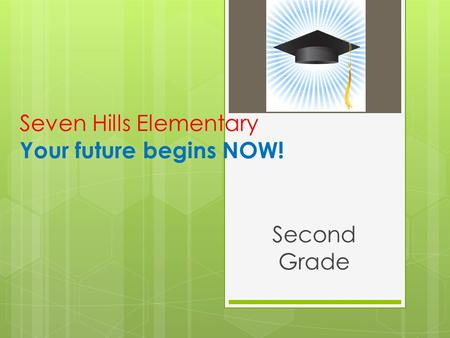 Seven Hills Elementary Your future begins NOW! Second Grade.