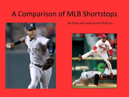A Comparison of MLB Shortstops By Drew Jack and Lauren McNulty.