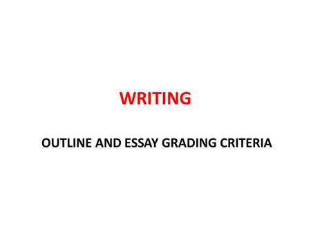 gmat essay grading criteria Understand your gmat score report each essay receives two independent ratings, one of which may be performed by an automated essay-scoring engine.