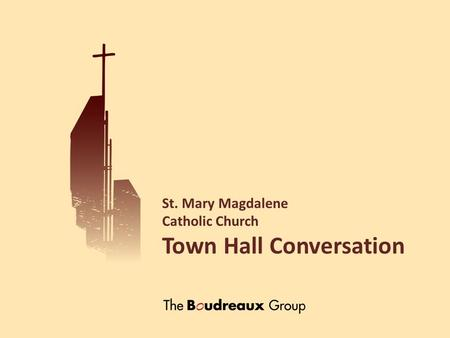 St. Mary Magdalene Catholic Church Town Hall Conversation.