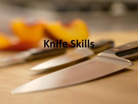 Knife Skills. Cutting Boards A cutting board is used to cut food to prevent damage to the countertop and to prevent cross contamination.