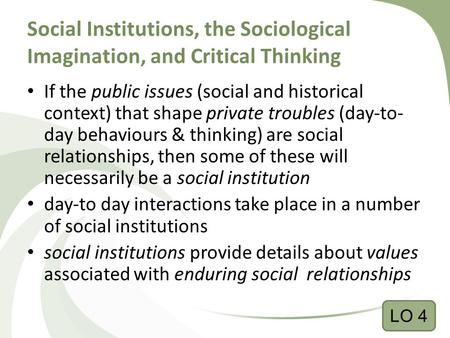 understanding the concept of sociological imagination