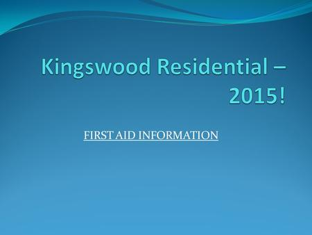 Kingswood Residential – 2015!