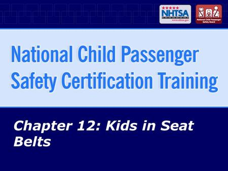 Chapter 12: Kids in Seat Belts
