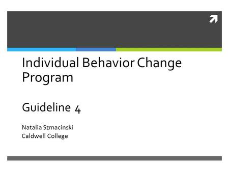 Individual Behavior Change Program Guideline 4