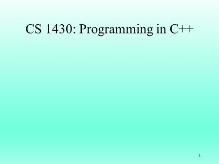 "CS 1430: Programming in C++ 1. Data Type string #include // C++ String class string str1, str2; // Default constructor cin >> str1 >> str2; cout << ""str1:"