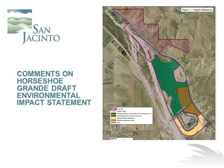 COMMENTS ON HORSESHOE GRANDE DRAFT ENVIRONMENTAL IMPACT STATEMENT
