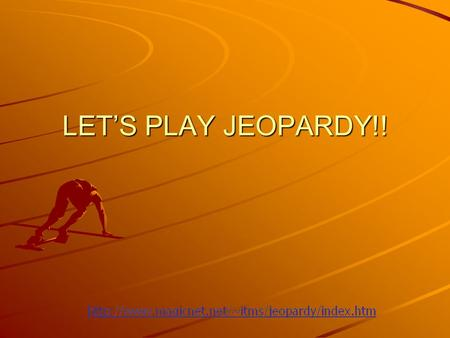 LET'S PLAY JEOPARDY!! Safety- true and false Food Poisonings Sanitation & Safety Appliance s Microwaves Q $100 Q $200 Q $300 Q $400 Q $500 Q $100 Q $200.