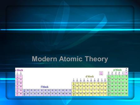 Modern Atomic Theory Please select the appropriate Team. 1.Girls 2.Guys.