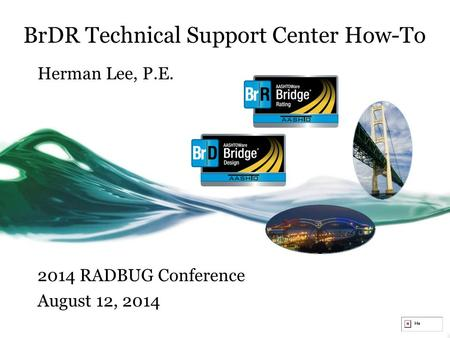 BrDR Technical Support Center How-To Herman Lee, P.E. 2014 RADBUG Conference August 12, 2014.