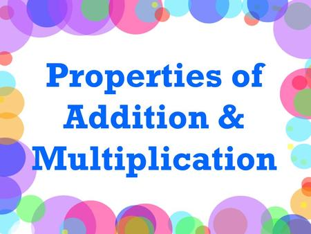 Properties of Addition & Multiplication. Before We Begin… What is a VARIABLE? A variable is an unknown amount in a number sentence represented as a letter: