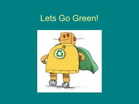 Lets Go Green!. Step 1 Save paper by using USB flash drive. Insert into copier, it's easy!