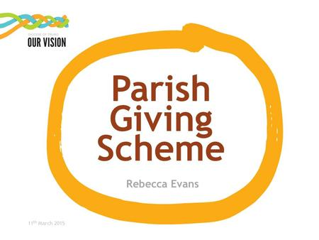 11 th March 2015 Parish Giving Scheme Rebecca Evans.