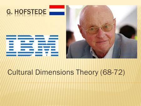 Cultural Dimensions Theory (68-72).  Overview  Background  Application  Methodology  4 Dimensions  UK examples.