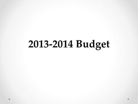 2013-2014 Budget. Funds General Fund (GF) Accounts for the day-to-day operations of the school district. Associated Student Body Fund (ASB) Accounts for.