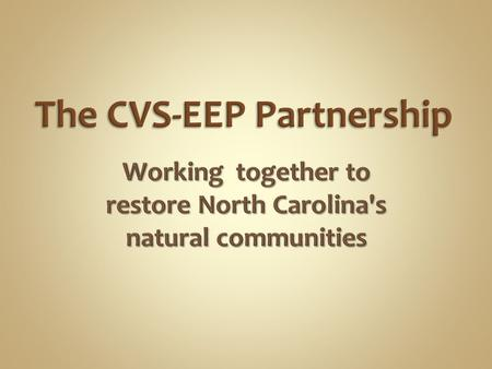 Multi-institutional collaborative research program. Established in 1988 to document the composition and status of natural vegetation of the Carolinas.