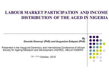 By Osunde Omoruyi (PhD) and Augustine Dokpesi (PhD)