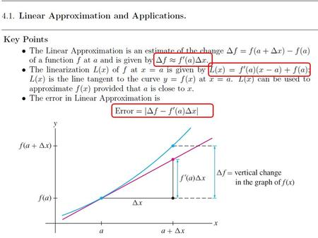 Use the Linear Approximation to estimate How accurate is your estimate?