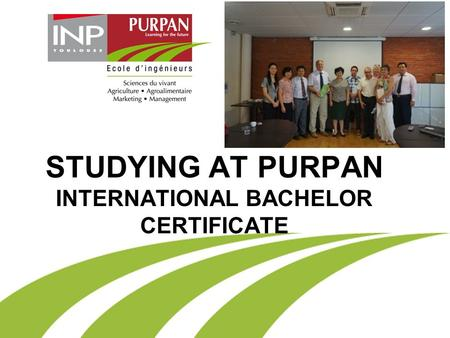 STUDYING AT PURPAN INTERNATIONAL BACHELOR CERTIFICATE.