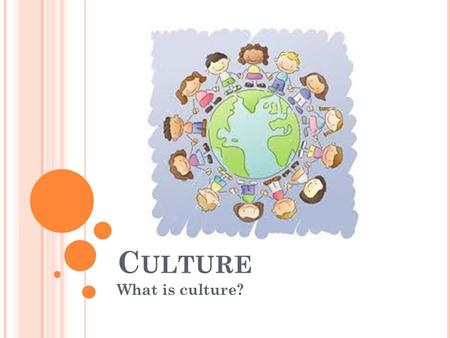 C ULTURE What is culture?. W HAT IS C ULTURE ? Language, beliefs, values, norms, behaviors, and material objects that constitute a people's way of life.