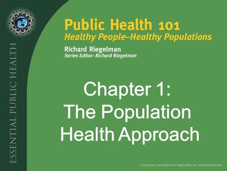 Introduction What do we mean by Public Health? How has the Approach to Public Health Changed over Time? What is Meant by Population Health? What are the.