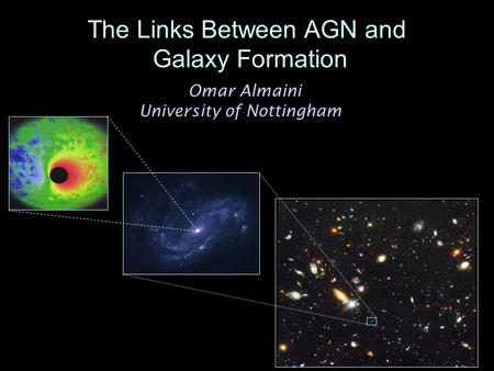Omar Almaini University of Nottingham The Links Between AGN and Galaxy Formation.