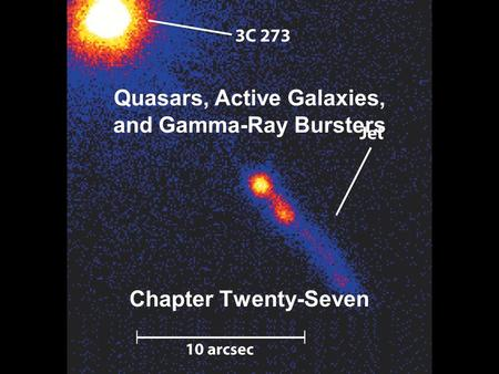 Quasars, Active Galaxies, and Gamma-Ray Bursters Chapter Twenty-Seven.