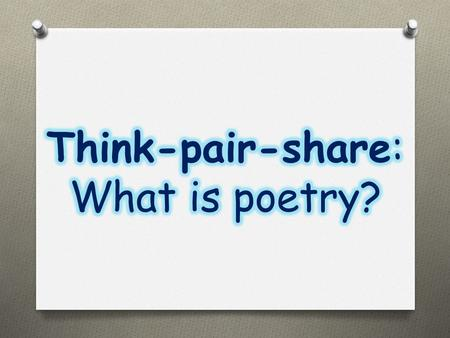 Poetry Rhyme/ sound Form/ shape Imagery /word- pictures Meaning/ message.