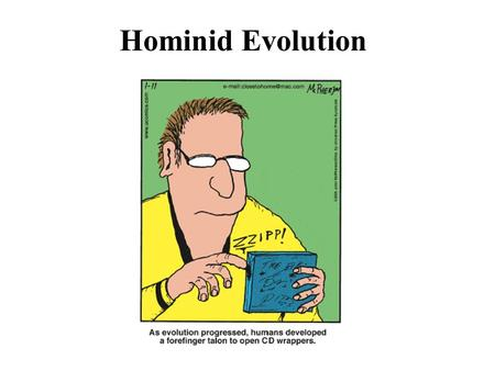 Hominid Evolution. Physical features that define humans as primates: grasping limbs with opposable thumb strong mobile arms/shoulders stereoscopic vision.