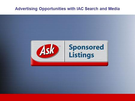 Advertising Opportunities with IAC Search and Media.