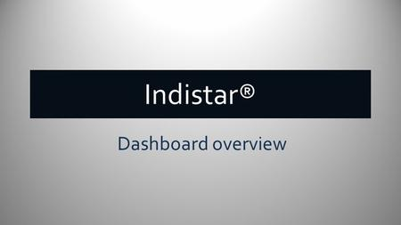 Indistar® Dashboard overview. School and District Dashboard HOME tab Link(s) to Indicators that school's assess, plan and monitor Quick access to live.