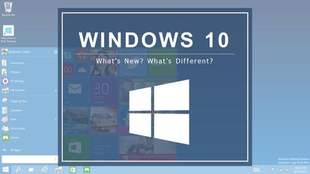 WINDOWS 10 What's New? What's Different?. Who Are We? Cody Pierson Marketing Manager Prophet Business Group Patrick Wall IT Technician Prophet Business.