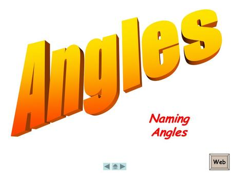 NamingAngles Web. Naming Angles An angle is made of two rays. We label the angle with three upper case letters. X Y Z Y is called the Vertex Naming the.