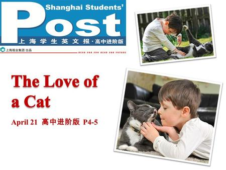 April 21 高中进阶版 P4-5. Pre-reading P2P2 Do you have any pets? Are you a good friend of your pets'? Can humans form close friendships with animals?