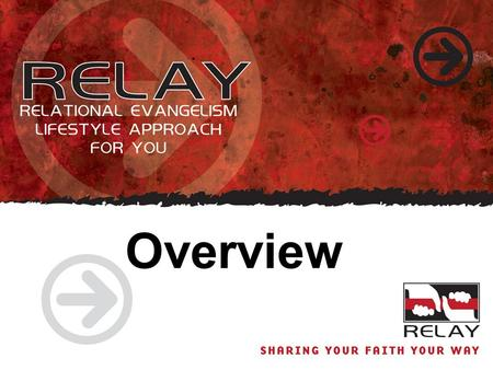 Overview. RELAY is About Changing Behavior RELAY is about Relationships RELAY is about Evangelism RELAY is about Lifestyle RELAY is about Approach RELAY.